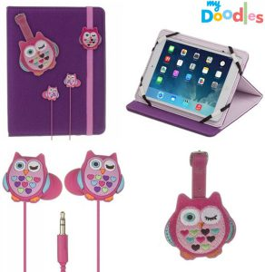 my-doodles-tablet-accessoires-inear-koptelefoon-tablethoes-paars