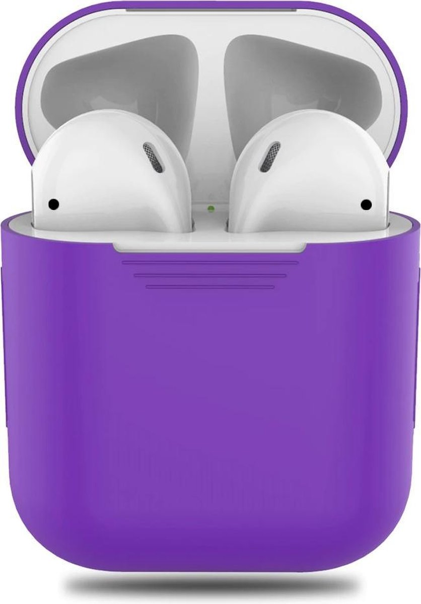 Afbeelding van Inear  Airpods Silicone Case Cover Hoesje voor Apple Airpods - Paars