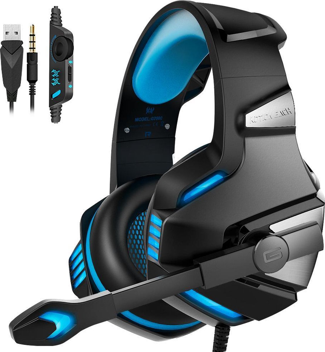 Afbeelding van Overear  V3-X PRO HD Gaming Headset met Microfoon (PS4/PC/XBOX ONE/Switch)
